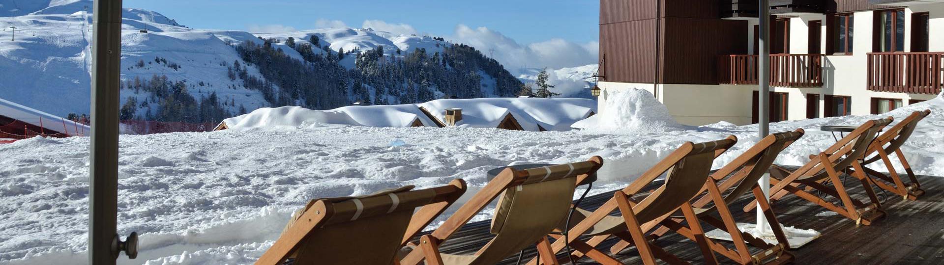 terrasse hotel belle Plagne