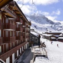 Hôtel Belle Plagne avec vue sur les pistes