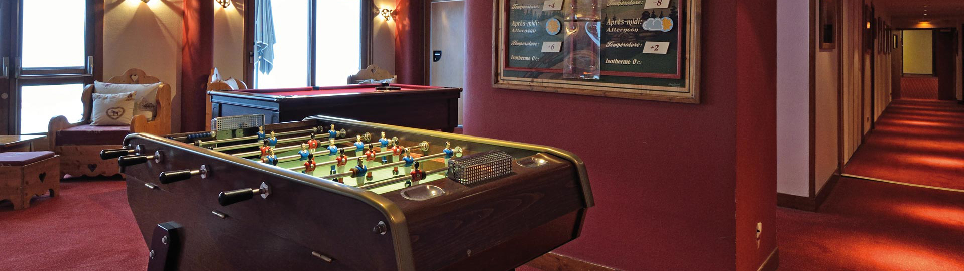 Games room hotel belle plagne